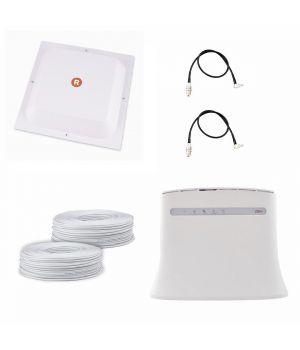 """Комплект """"Лучший домашний 4G"""" (4G LTE Wi-Fi роутер ZTE MF283U + 4G LTE антенна MIMO панельная RNet 17 дБ)"""