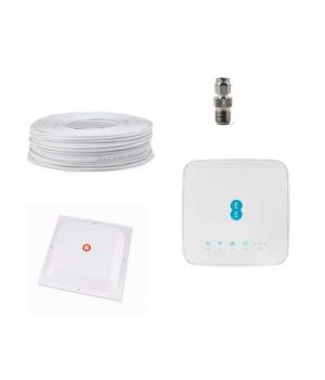 """Комплект """"Урбан 4G"""" (Alcatel HH70 + 4G LTE антенна квадрат MIMO панельная RNet 1700-2700 МГц 17 дБ)"""