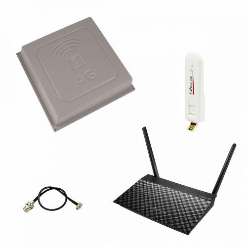 """Комплект 3G """"Asus RT-AC51U + Evdo-Link EL3277 + Антенна панельная 17Дб"""""""
