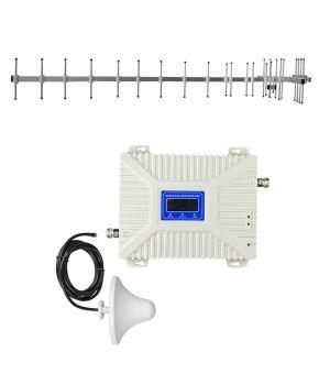 """Комплект 3G/4G репитер усилитель связи 2100/2600 МГц с антенной """"Стрела"""" 15 дБ"""