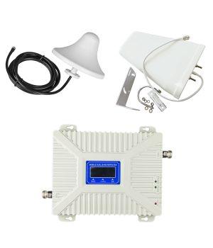 Комплект GSM репитер усилитель связи 900/1800/2600 МГц с антенной 10 дБ