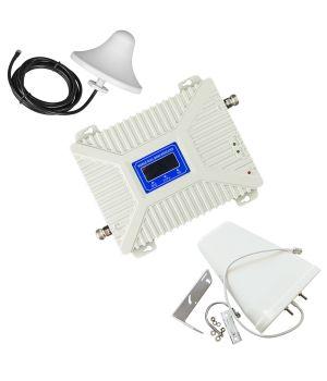 Комплект GSM репитер усилитель связи 900/2100/2600 МГц с антенной 10 дБ