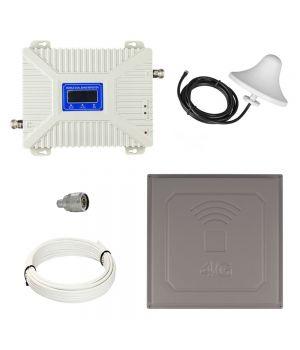 Комплект GSM репитер усилитель связи 900/2100 МГц с антенной панельной 17Дб